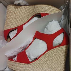 NITB Red MK wedges by Michael Kors heels shoes